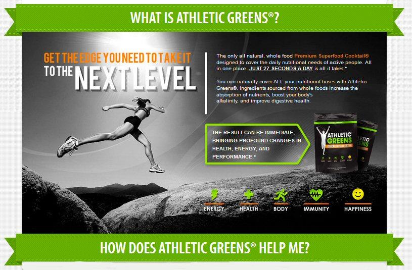sports energy greens